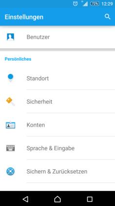 Android Einbindung eines Postfaches Schritt 1