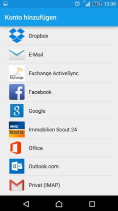 Android Einbindung eines Postfaches Schritt 3