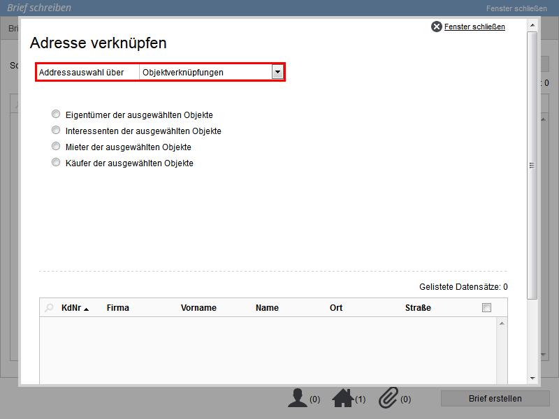 Objektverknüpfung von Empfängern im E-Mailcomposer