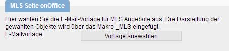 Vorlage für E-Mails aus der MLS
