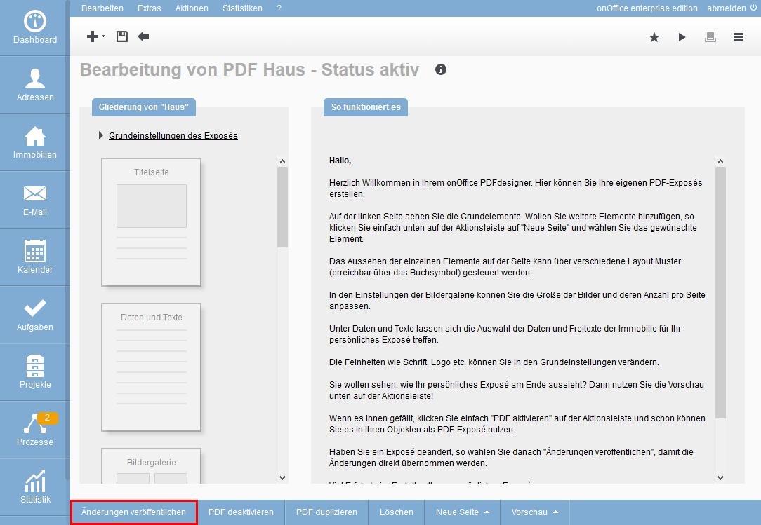 PDF-Exposé ändern
