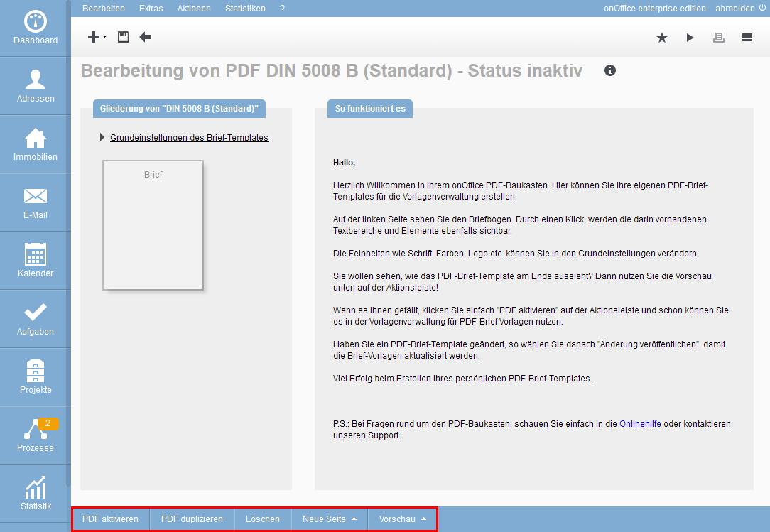 PDF-Brief-Template erstellen und bearbeiten