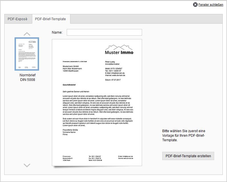 PDF-Brief-Template erstellen