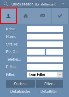 Symbol Adressen in Quicksearch